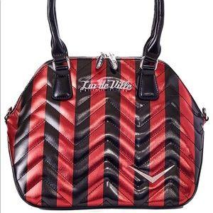 Red and black Chevron purse